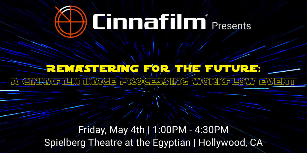 Remastering for the Future: A Cinnafilm Image Processing Workflow Event