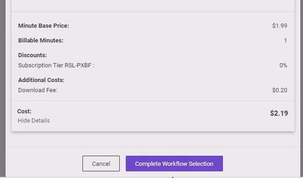 How to create standards conversion workflows in PixelStrings - complete workflow selection